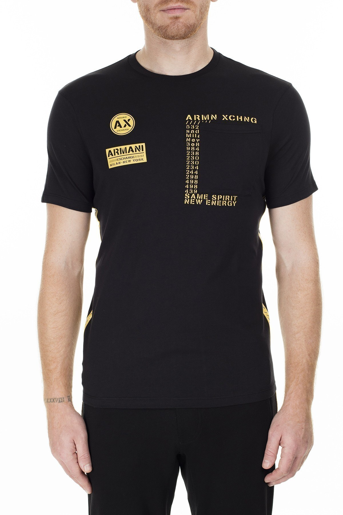 Armani Exchange Erkek T Shirt S 6GZTBL ZJH4Z 1200 SİYAH