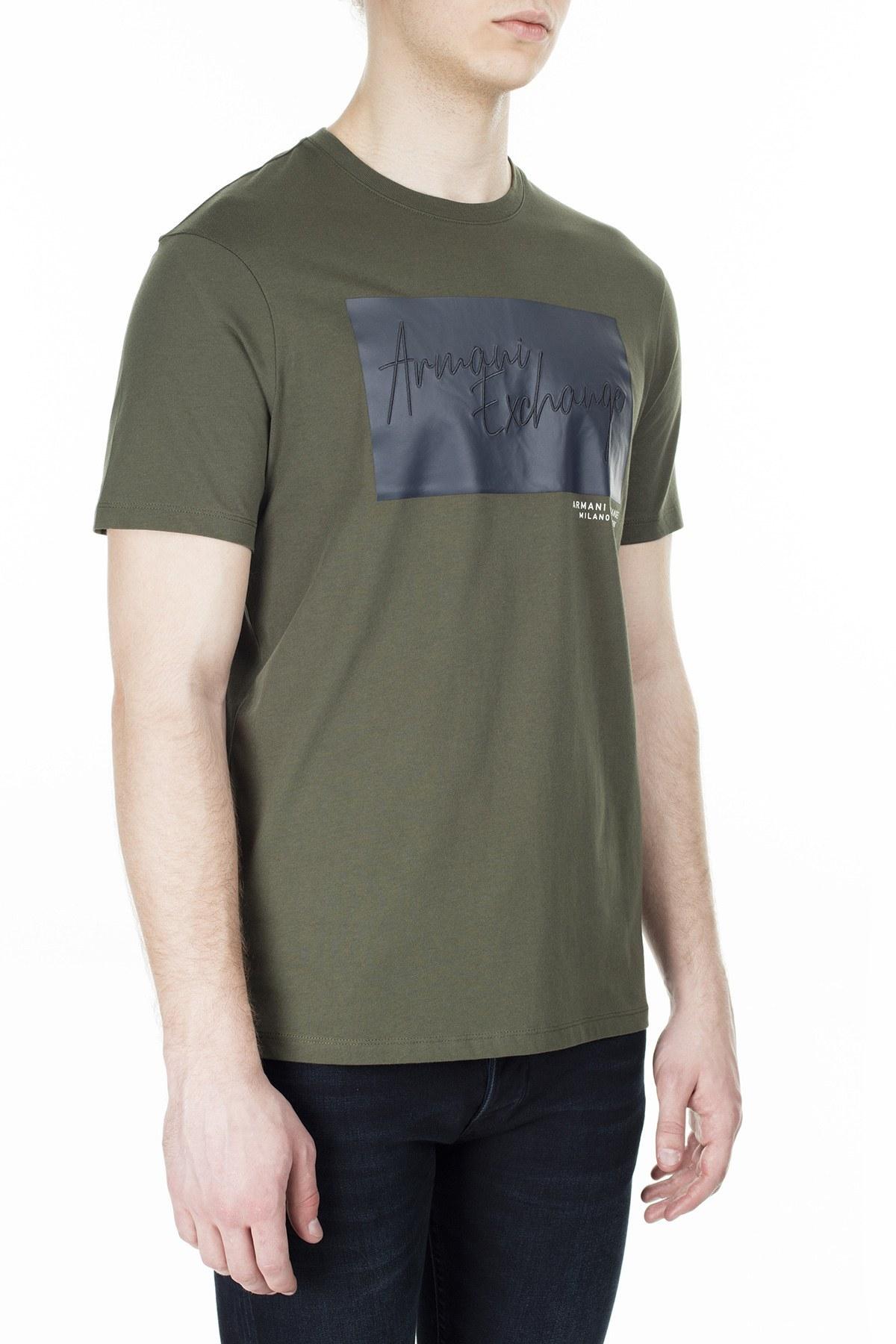 Armani Exchange Erkek T Shirt S 6GZTBP ZJBVZ 1842 HAKİ