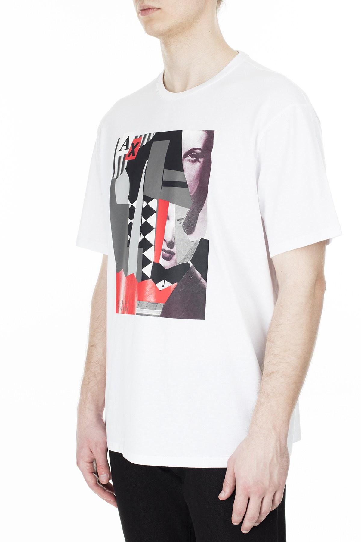 Armani Exchange Erkek T Shirt S 6GZTEG ZJH4Z 1100 BEYAZ