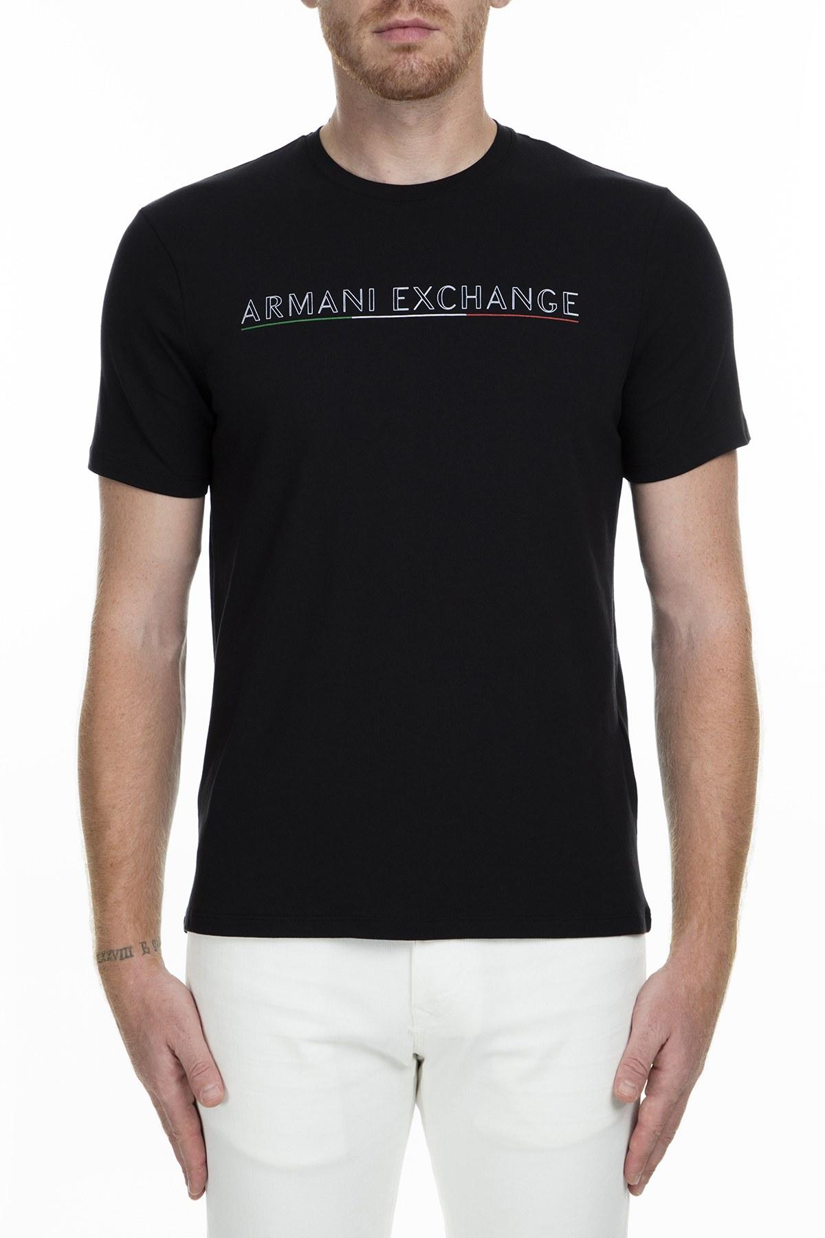 Armani Exchange Erkek T Shirt S 6GZTMI ZJZ6Z 1200 SİYAH