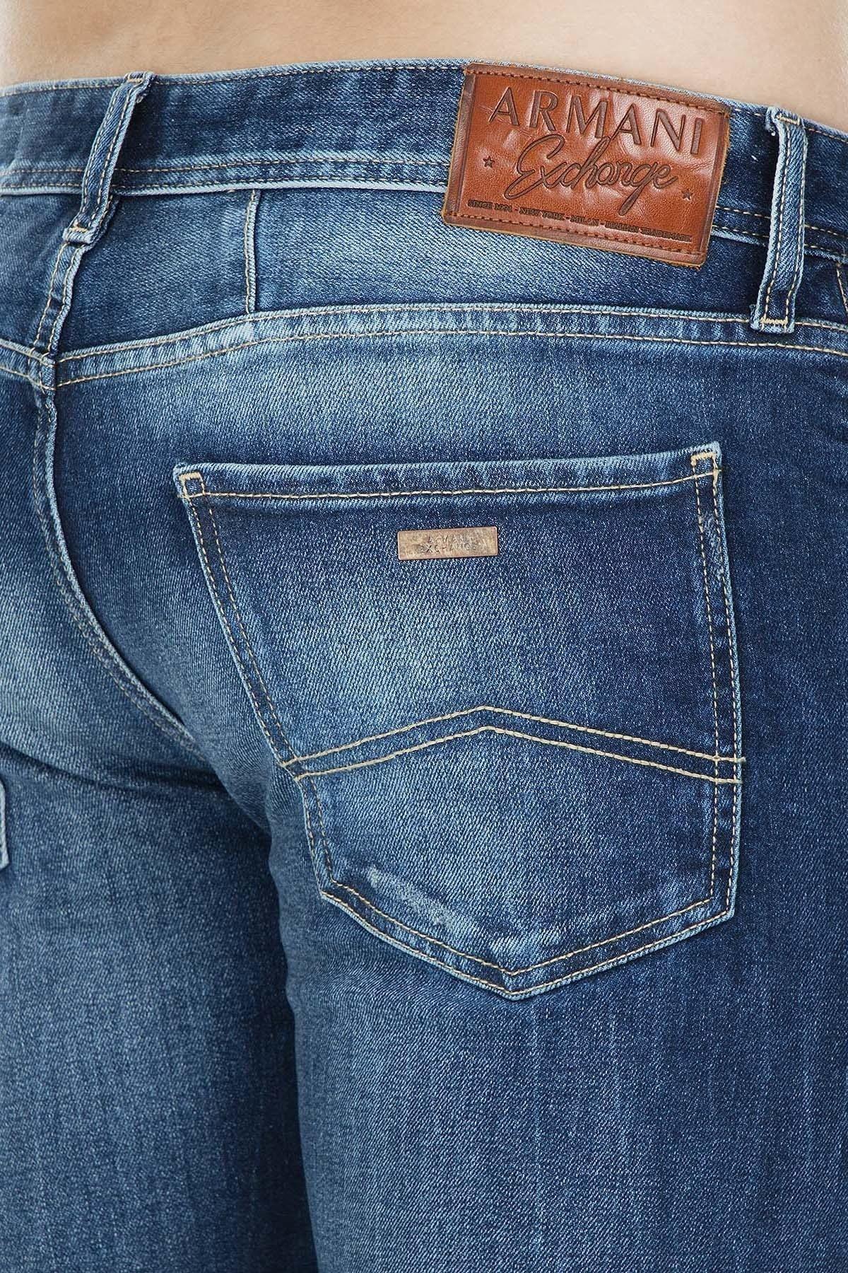 Armani Exchange J13 Jeans Erkek Kot Pantolon 3GZJ13 Z1DRZ 1500 KOYU MAVİ