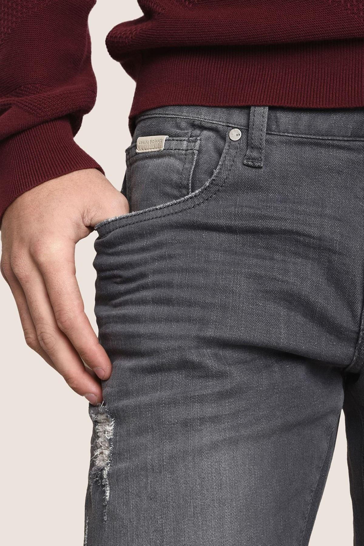 ARMANI EXCHANGE J13 JEANS Erkek Kot Pantolon 3ZZJ13 Z2FFZ 0903 GRİ