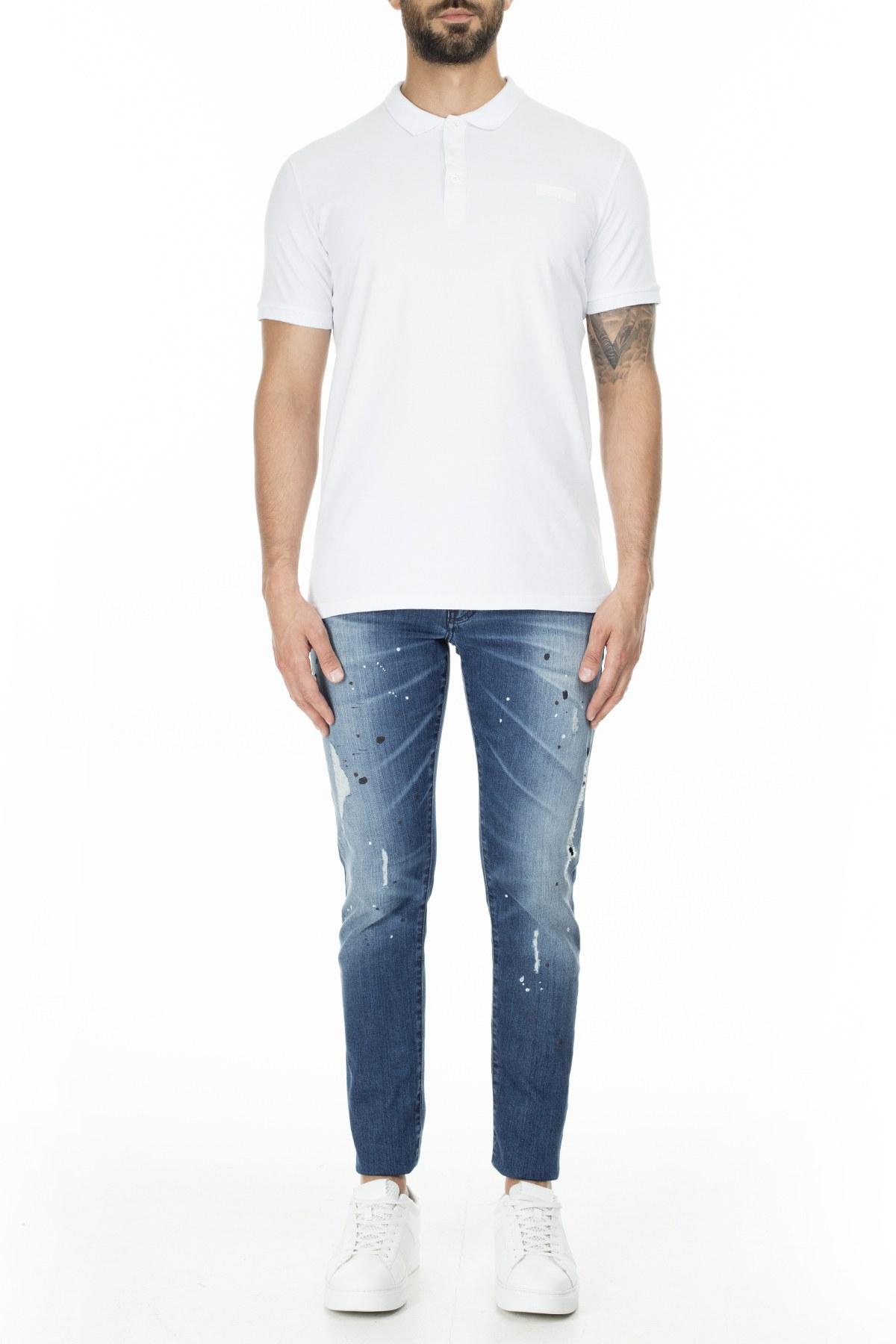 Armani Exchange J14 Jeans Erkek Kot Pantolon 3HZJ14 Z4ZCZ 1500 KOYU MAVİ