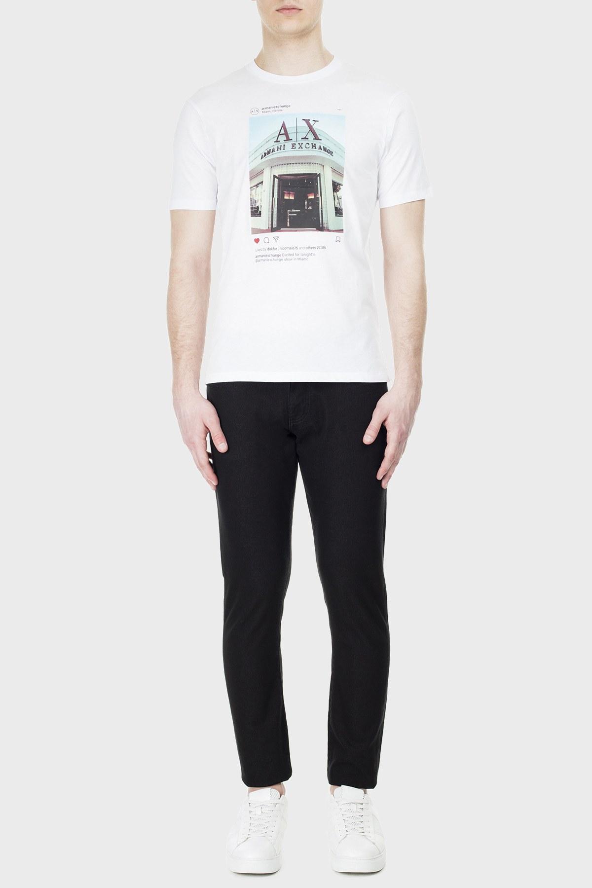 Armani Exchange J14 Jeans Erkek Kot Pantolon 3HZJ14 ZNGGZ 1200 SİYAH