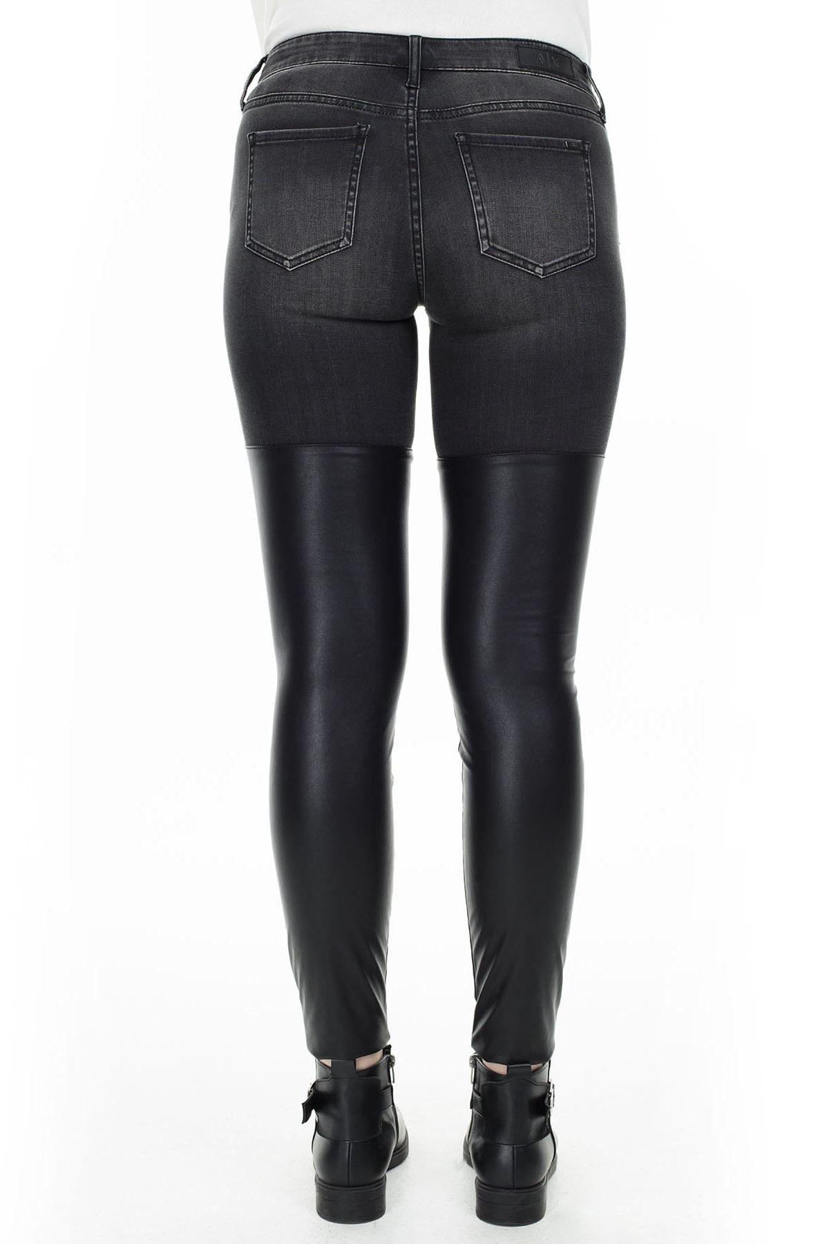 Armani Exchange J50 Jeans Kadın Kot Pantolon 6GYJ50 Y2HQZ 0204 SİYAH