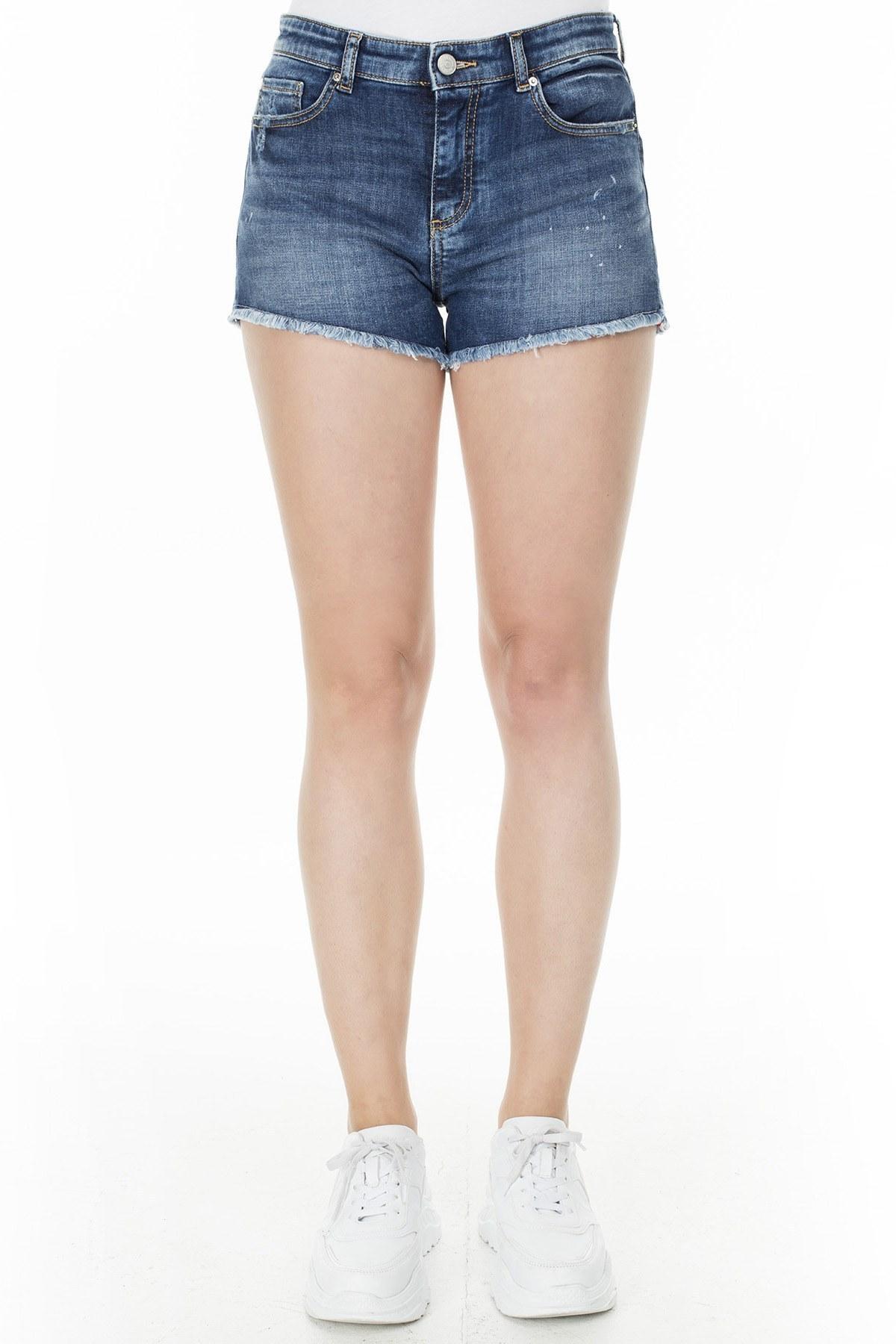 Armani Exchange J59 Jeans Bayan Short 3HYJ59 Y2NEZ 1500 LACİVERT