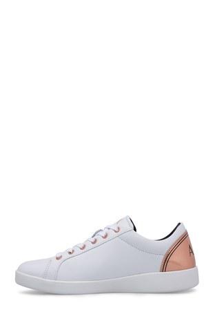 Armani Exchange - Armani Exchange Kadın Ayakkabı XDX034 XV162 N862 BEYAZ (1)