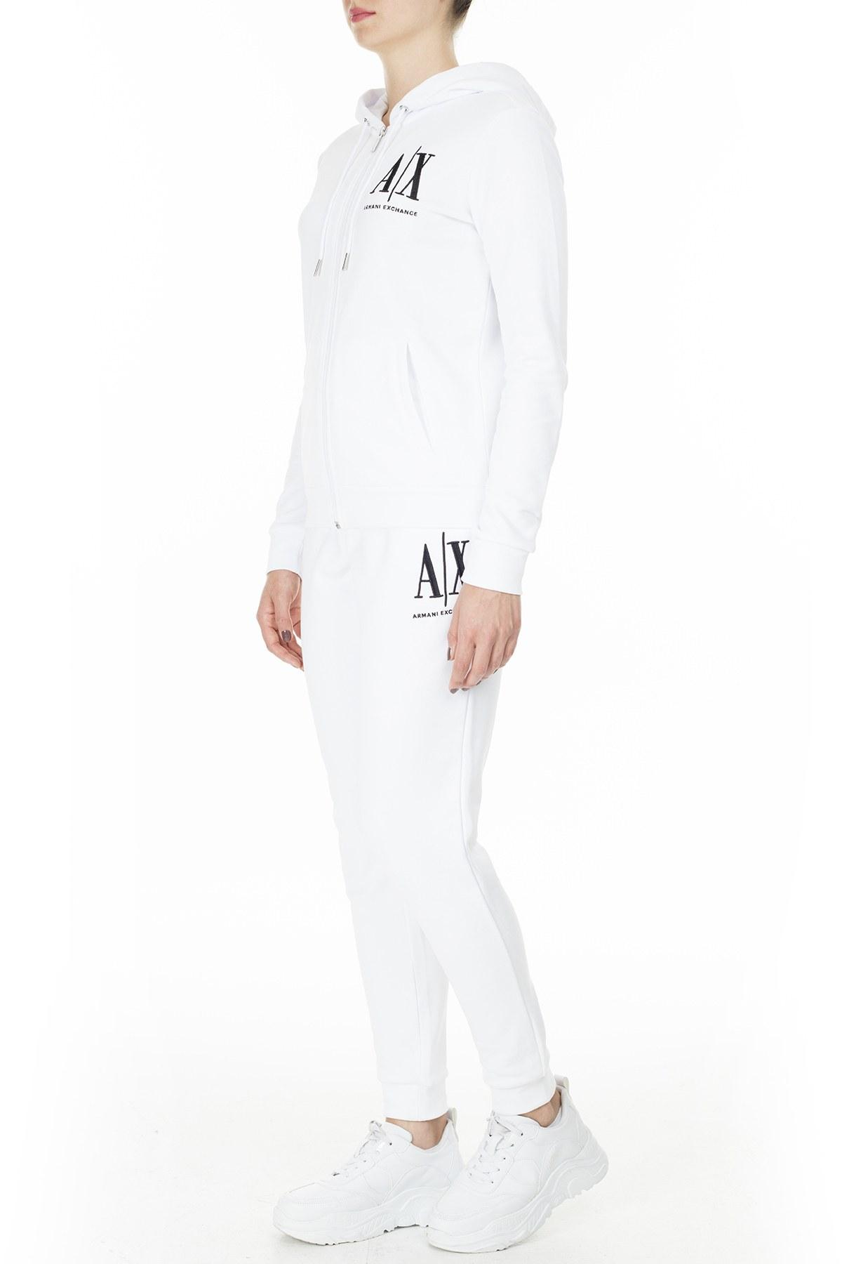 Armani Exchange Eşofman Altı Bayan Pantolon 8NYPCX YJ68Z 1000 BEYAZ