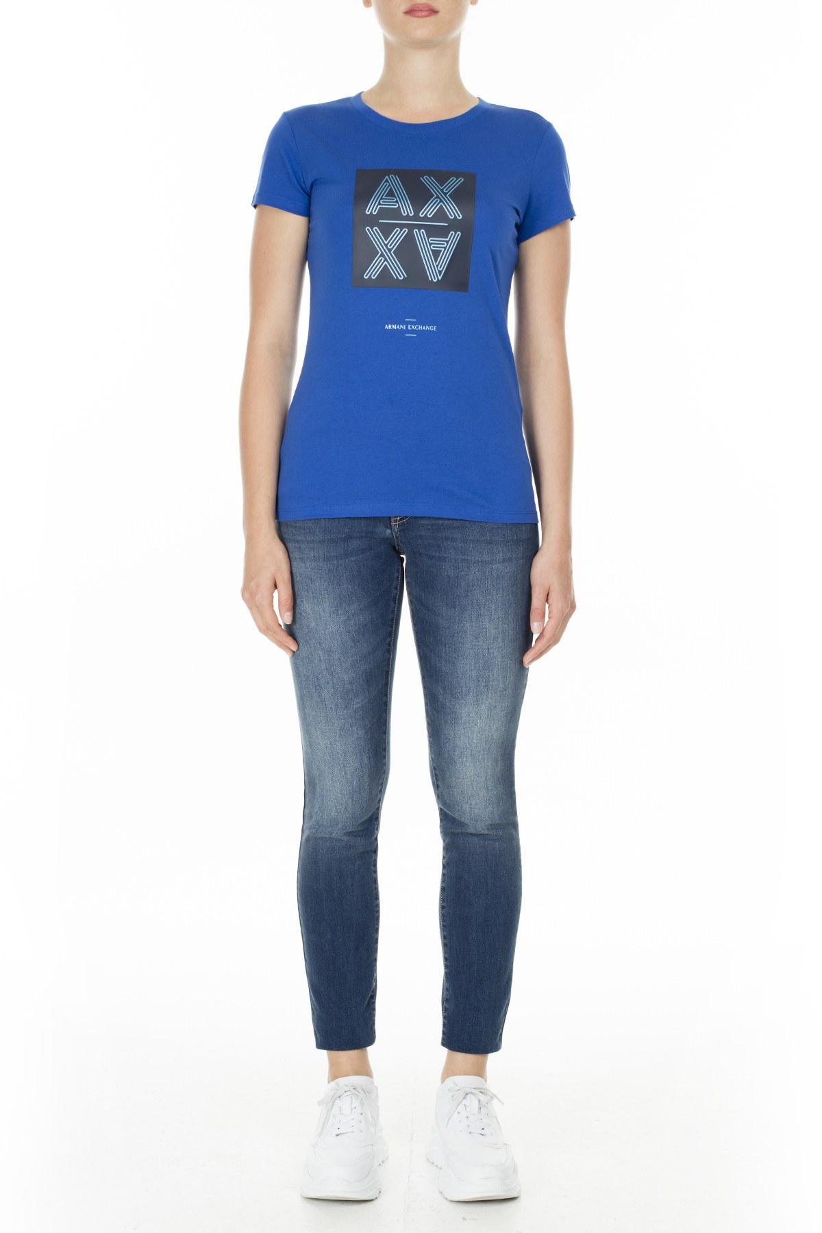 Armani Exchange Kadın T Shirt 3HYTAQ YJ73Z 1517 TURKUAZ