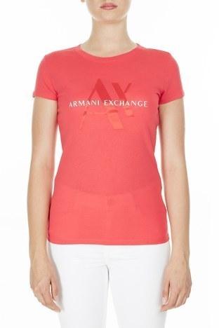 Armani Exchange - Armani Exchange Kadın T Shirt 3HYTAY YJ73Z 1476 MERCAN