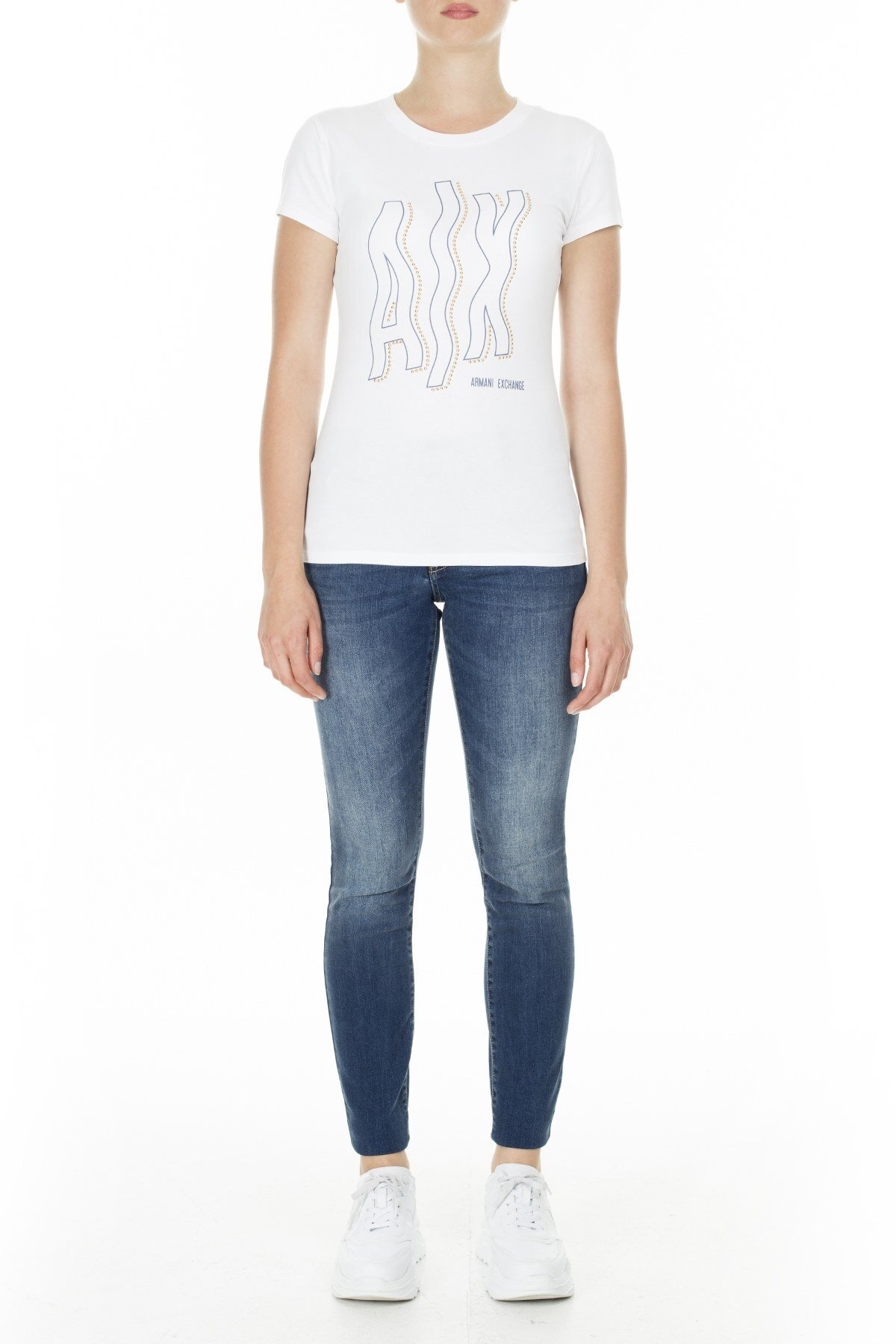 Armani Exchange Kadın T Shirt 3HYTCC YJ19Z 1000 BEYAZ
