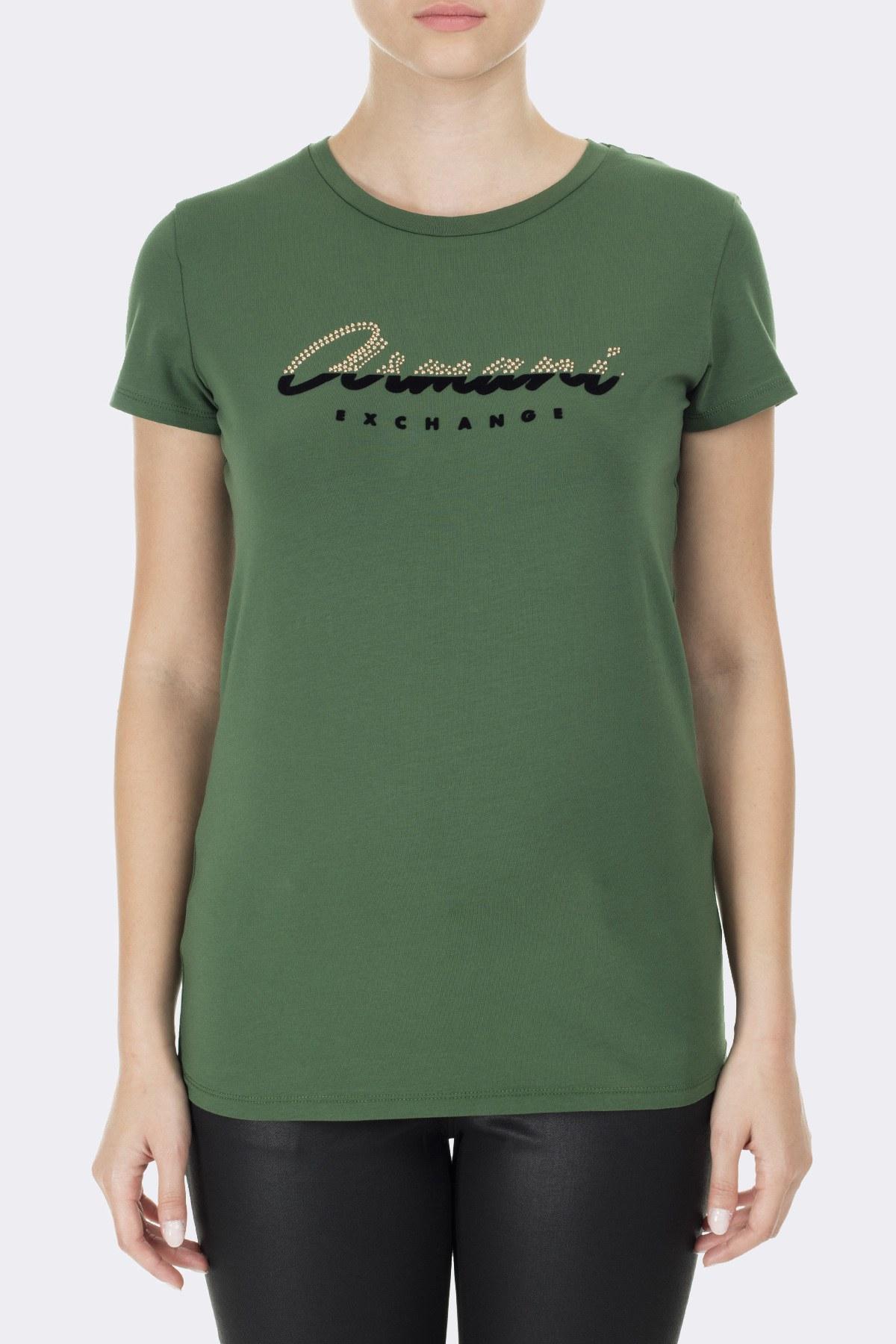 Armani Exchange Bayan T Shirt 6GYTAQ YJC7Z 1844 YEŞİL