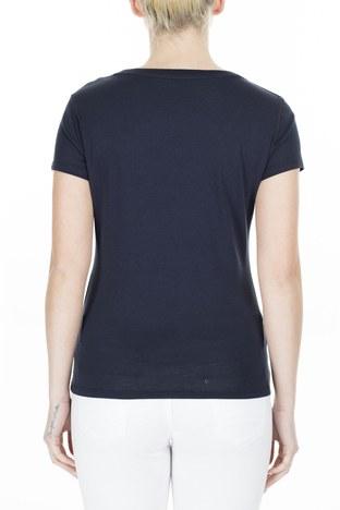 Armani Exchange - Armani Exchange Kadın T Shirt 8NYT83 YJ16Z 1510 LACİVERT (1)
