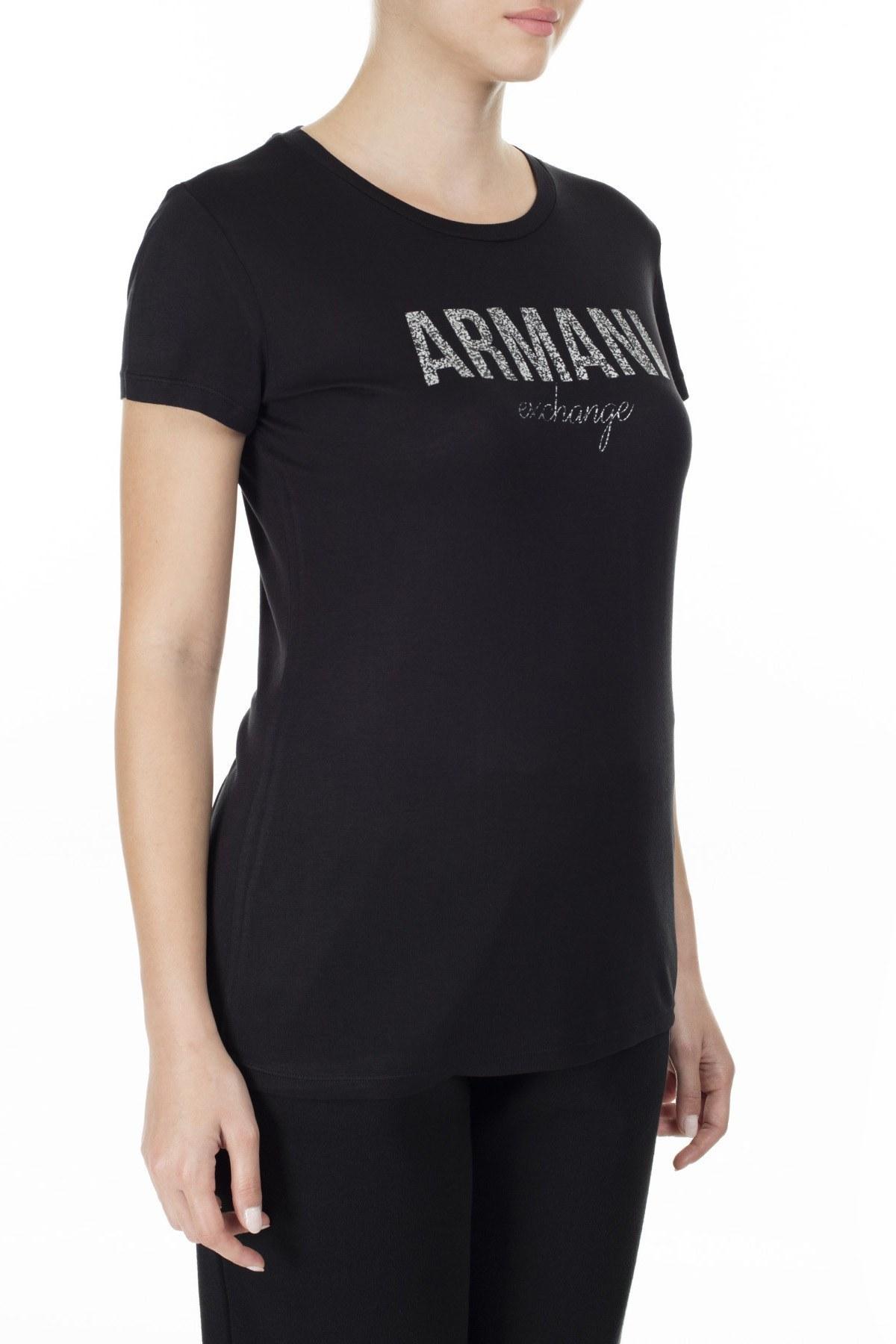 Armani Exchange Bayan T Shirt 8NYT98 Y9C8Z 1200 SİYAH