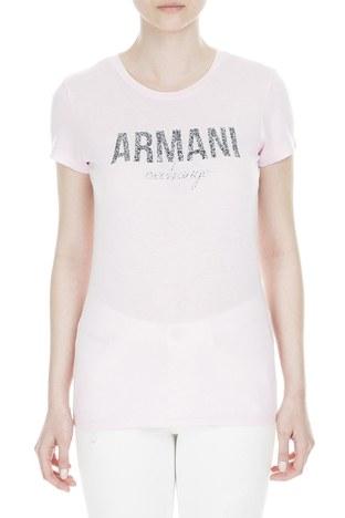Armani Exchange - Armani Exchange Bayan T Shirt 8NYT98 Y9C8Z 1453 PEMBE