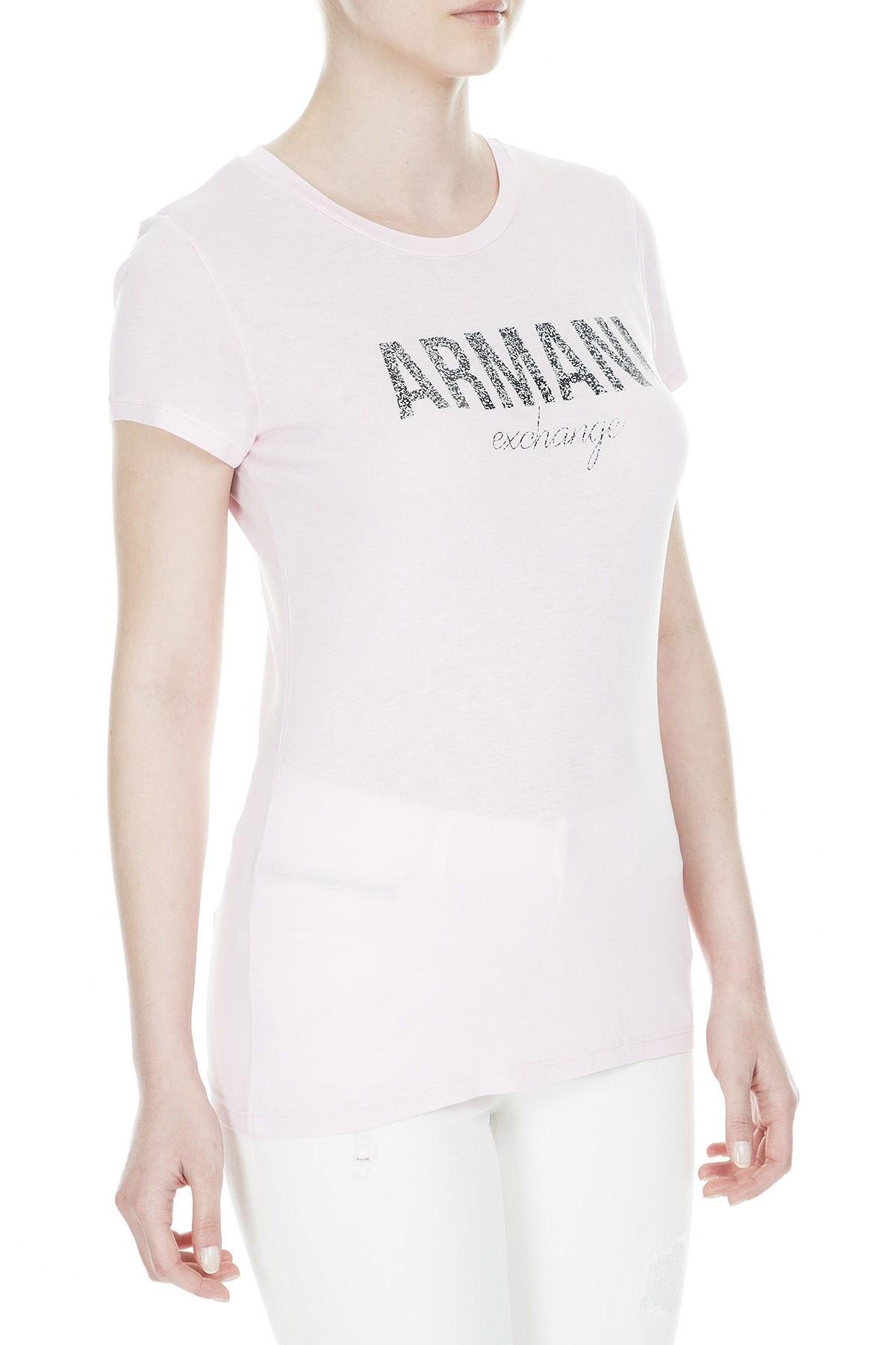 Armani Exchange Bayan T Shirt 8NYT98 Y9C8Z 1453 PEMBE