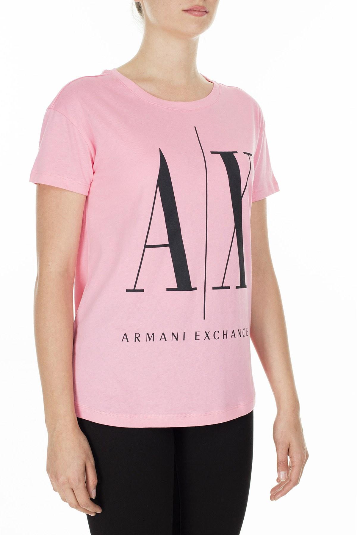 Armani Exchange Kadın T Shirt 8NYTCX YJG3Z 1475 PEMBE