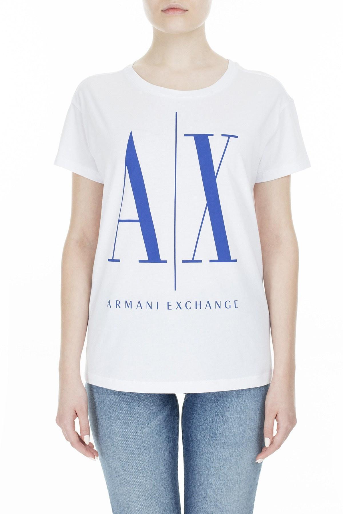 Armani Exchange Kadın T Shirt 8NYTCX YJG3Z 7141 BEYAZ