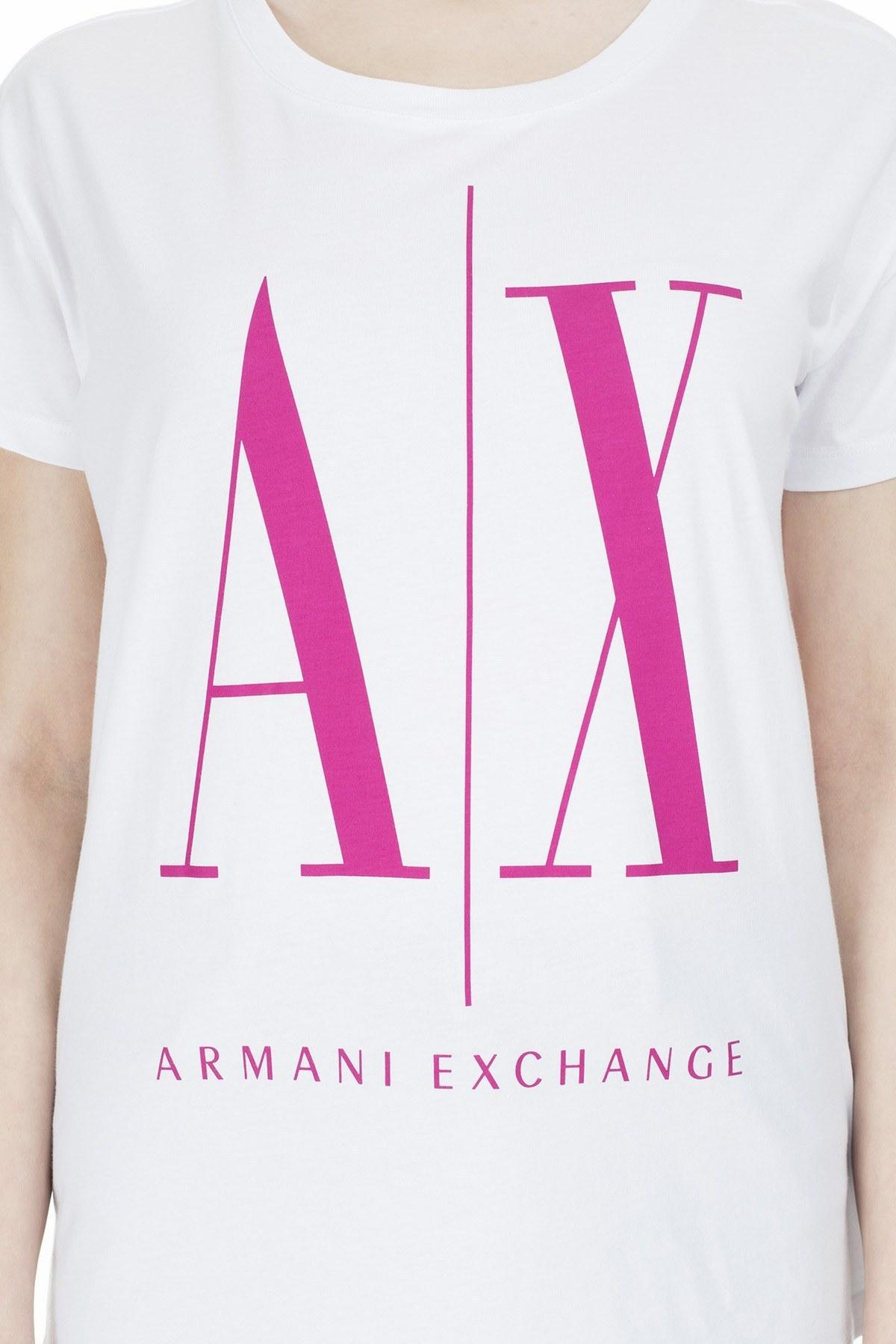 Armani Exchange Kadın T Shirt 8NYTCX YJG3Z 7142 BEYAZ