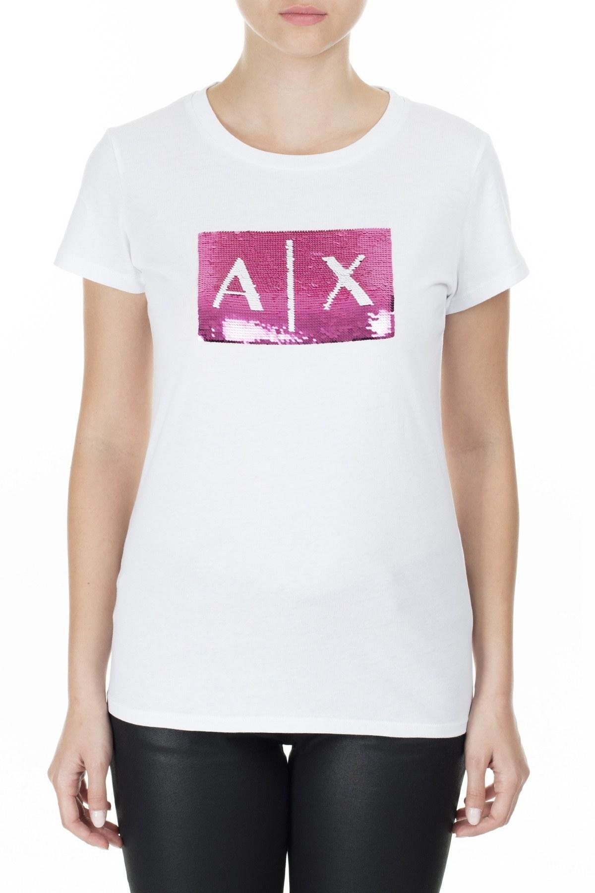 Armani Exchange Kadın T Shirt 8NYTDL YJ73Z 7107 BEYAZ