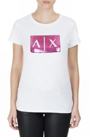 Armani Exchange - Armani Exchange Kadın T Shirt 8NYTDL YJ73Z 7107 BEYAZ