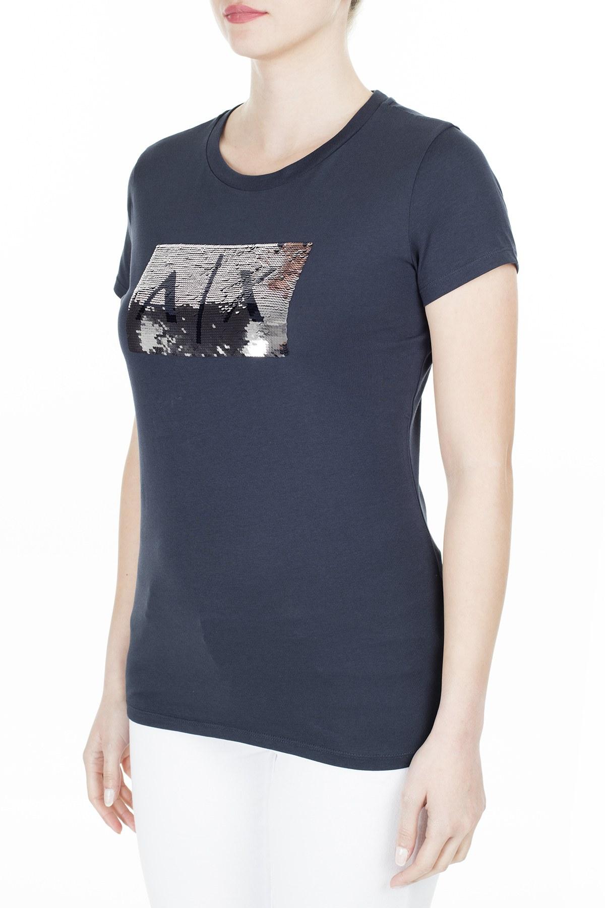 Armani Exchange Bayan T Shirt 8NYTDL YJ73Z 8534 LACİVERT