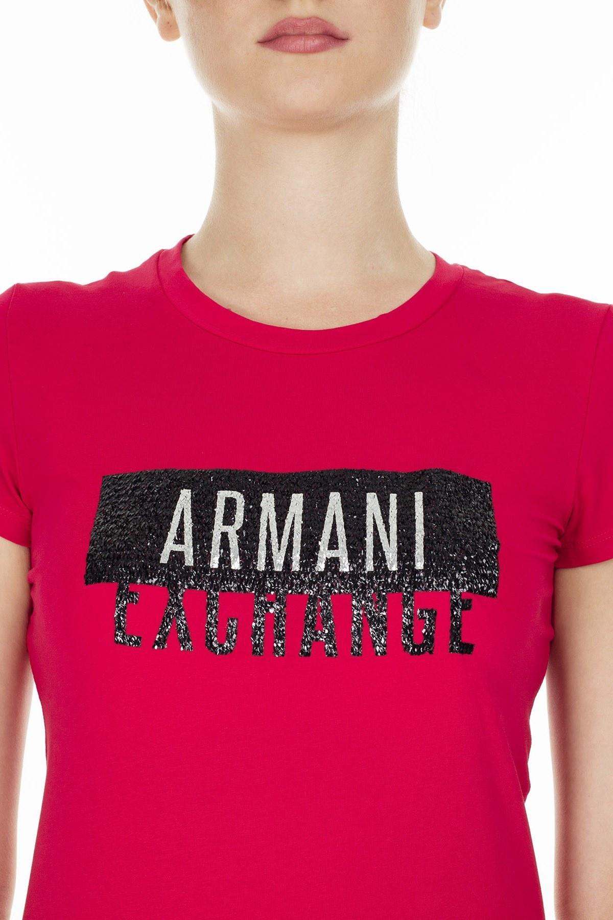 Armani Exchange Bayan T Shirt S 6GYT91 YJC7Z 1469 KIRMIZI