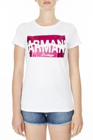 Armani Exchange - Armani Exchange Kadın T Shirt S 6GYTAB YJG3Z 1000 KIRIK BEYAZ