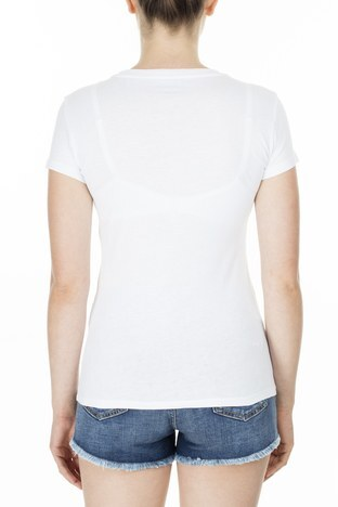 Armani Exchange - Armani Exchange Bayan T Shirt S 6GYTAK YJ73Z 1000 KIRIK BEYAZ (1)