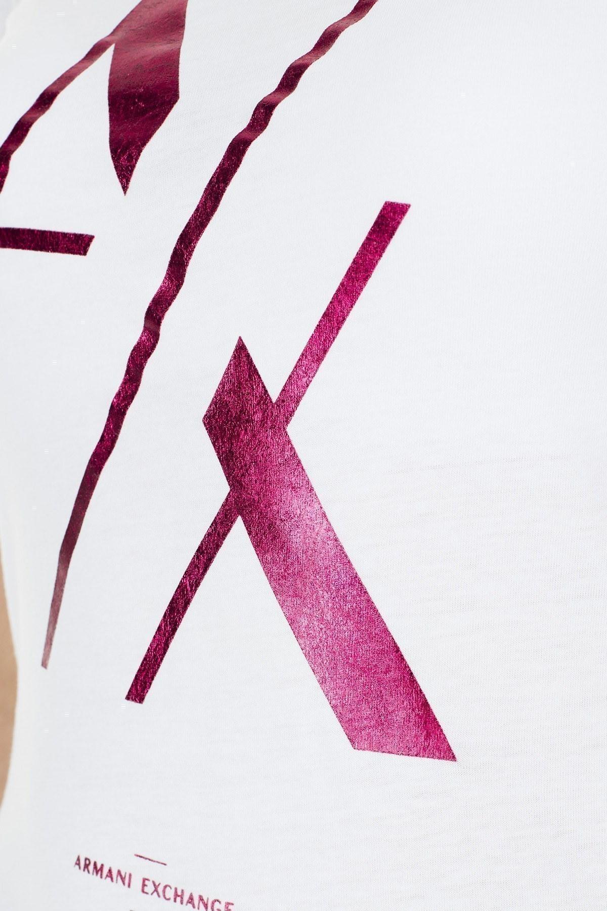 Armani Exchange Bayan T Shirt S 6GYTAK YJ73Z 1000 KIRIK BEYAZ