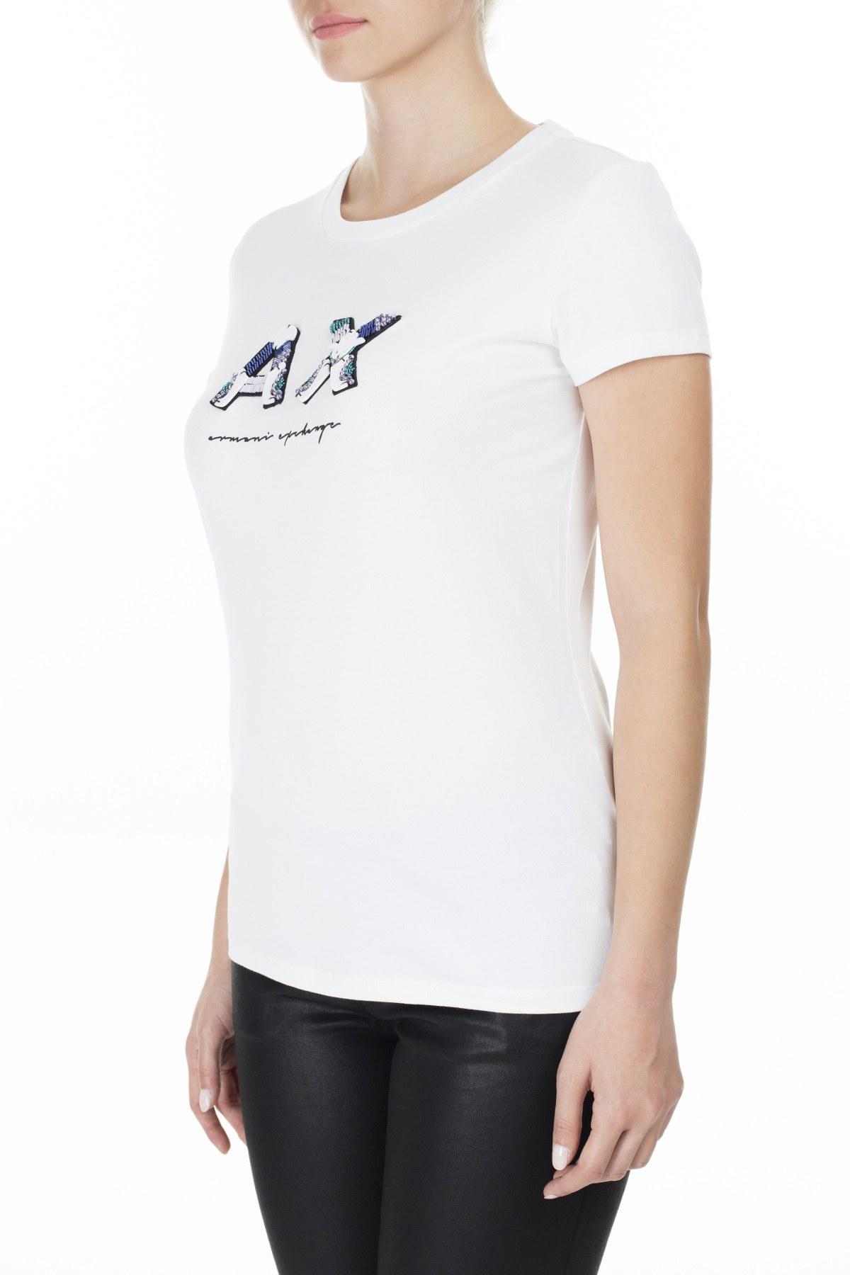 Armani Exchange Bayan T Shirt S 6GYTEN YJ29Z 1000 BEYAZ