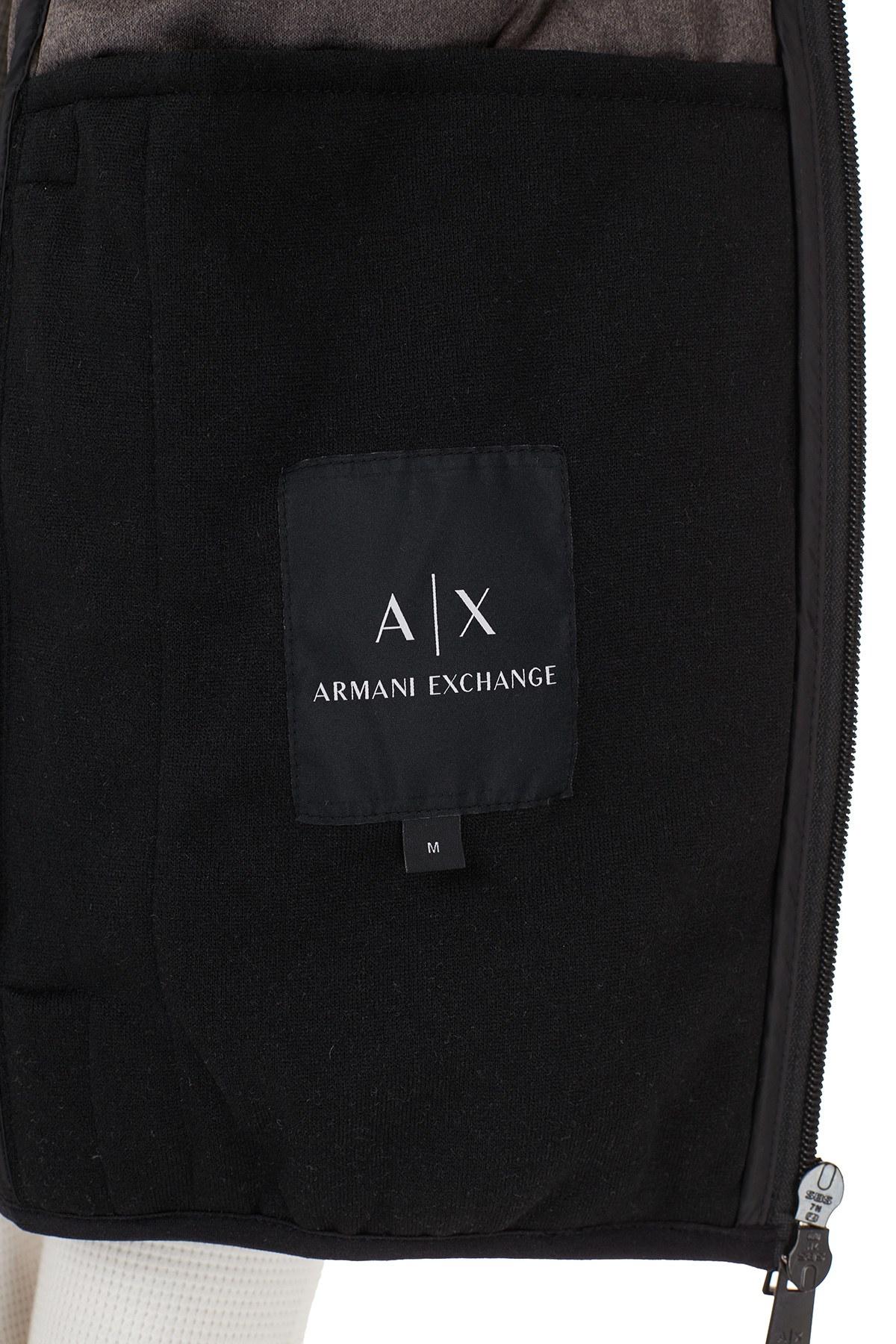 Armani Exchange Kaz Tüyü Dolgulu Dik Yaka Erkek Yelek 6HZQ02 ZNHVZ 1200 SİYAH