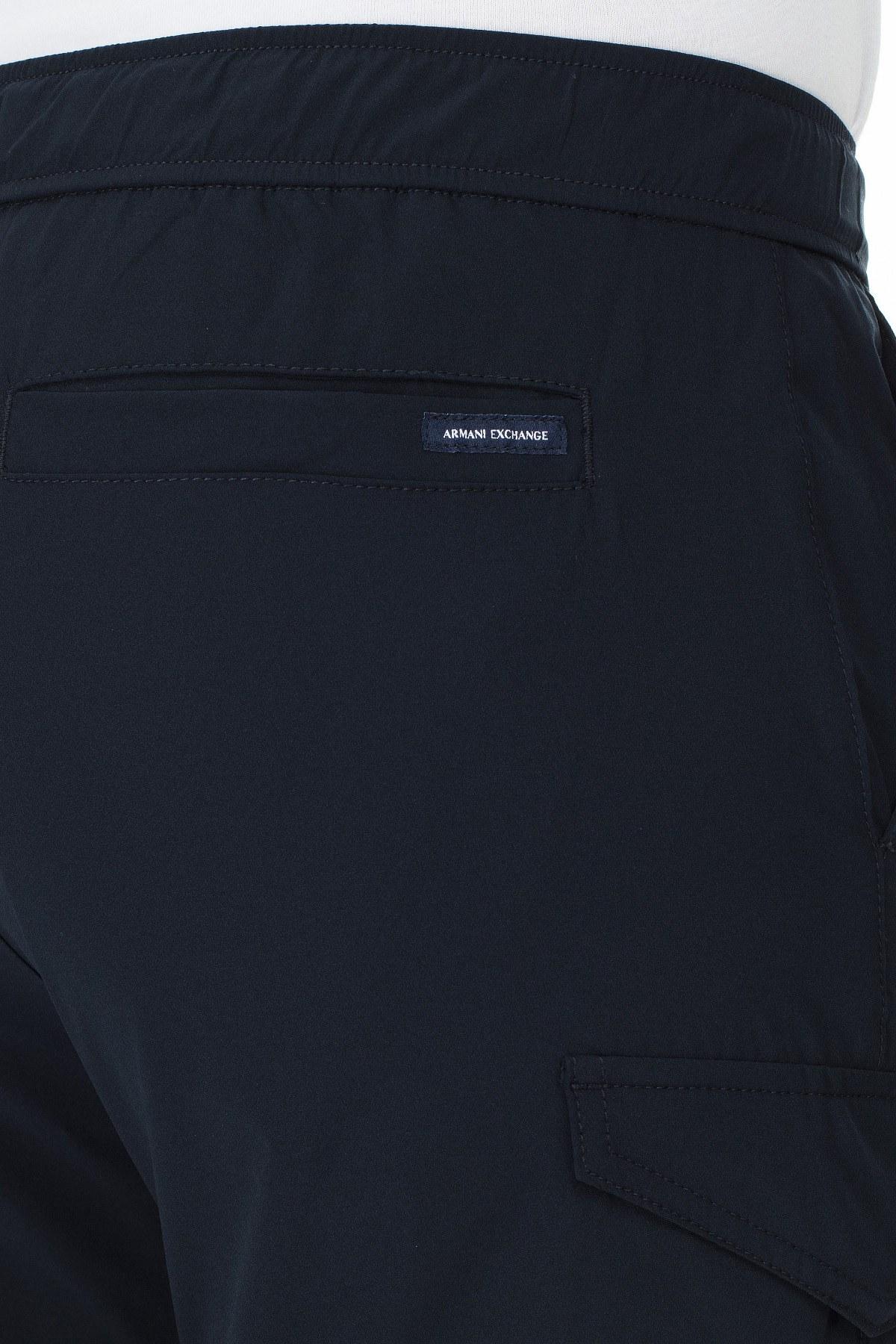 Armani Exchange Kemerli Paçası Lastikli Bol Kesim Erkek Pantolon 3HZP18 ZNHQZ 1510 LACİVERT