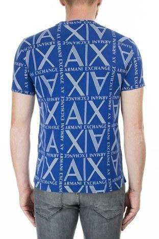 Armani Exchange - Armani Exchange Logo Baskılı % 100 Pamuk Bisiklet Yaka Erkek T Shirt 3HZTGC ZJH4Z 9503 SAKS (1)