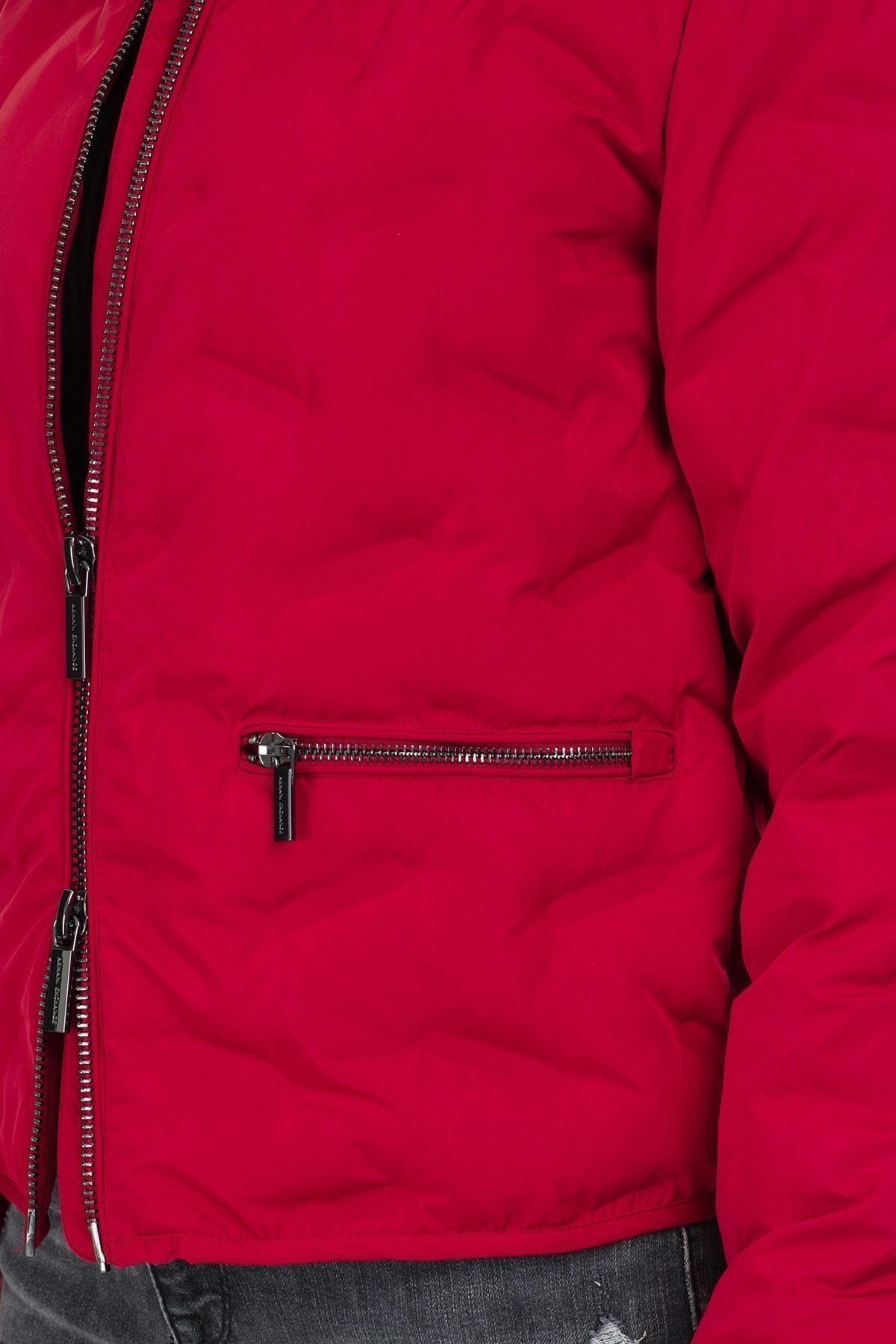 Armani Exchange Logo Baskılı Dik Yaka Kadın Mont 6GYB05 YNNCZ 1469 KIRMIZI