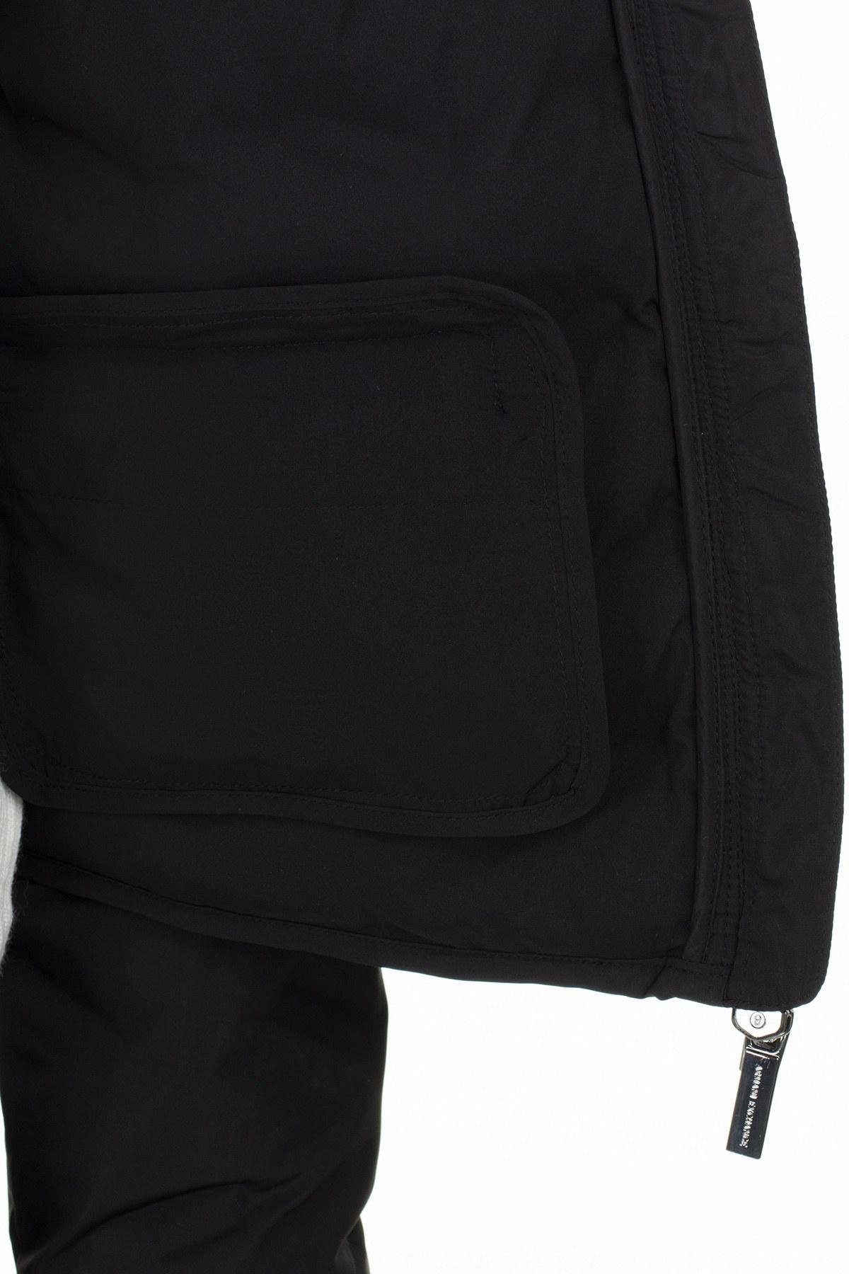 Armani Exchange Logo Baskılı Dik Yaka Şişme Bayan Mont 6GYB05 YNNCZ 1200 SİYAH