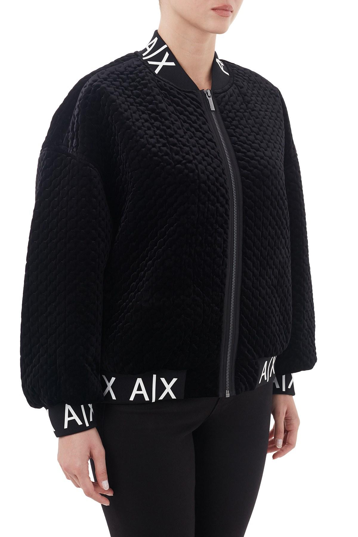 Armani Exchange Logo Baskılı Elastik Bantlı Kadın Mont 6HYB38 YNMNZ 1200 SİYAH