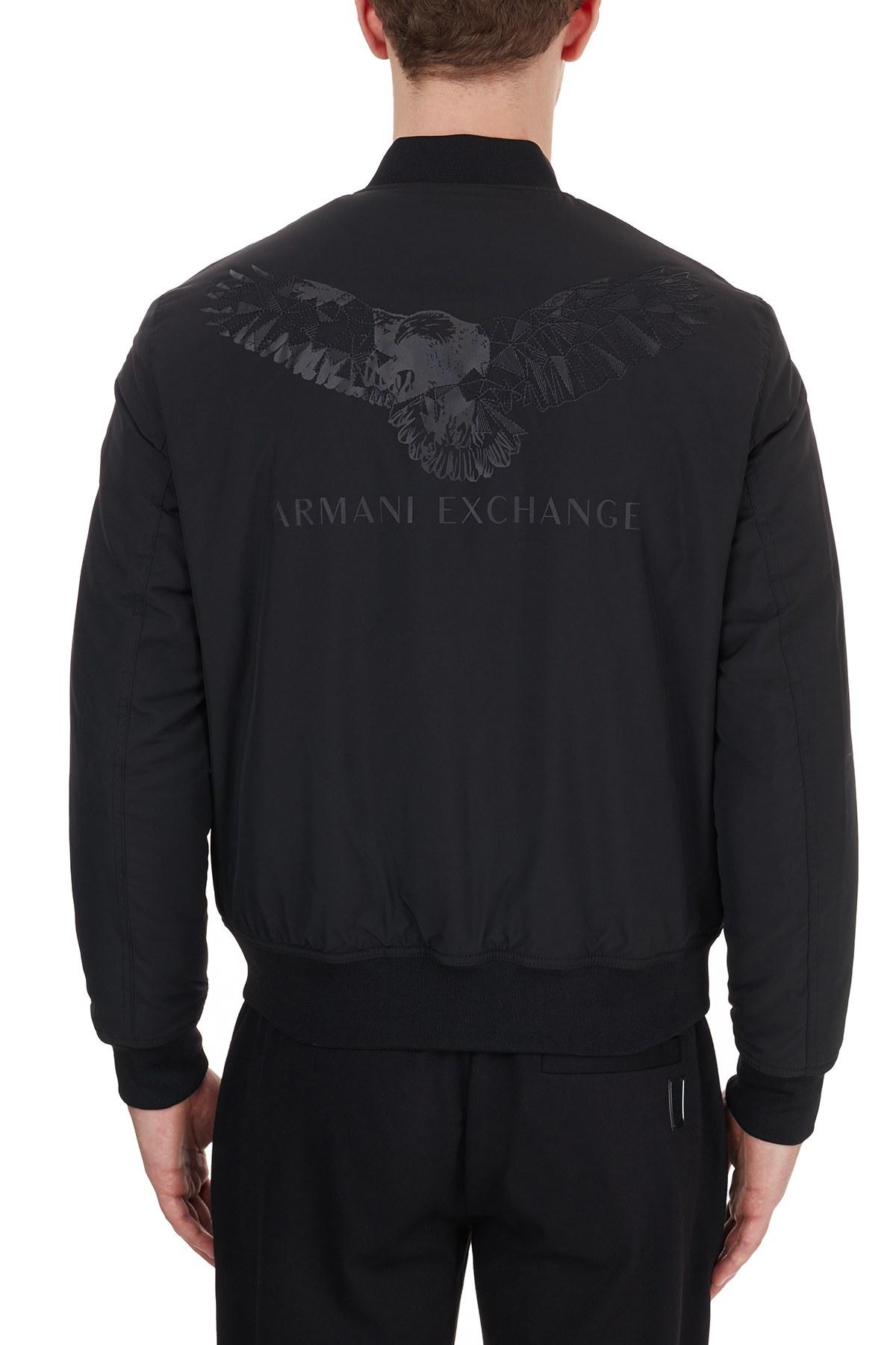 Armani Exchange Logo Baskılı Erkek Mont 6HZB52 ZNG1Z 1200 SİYAH