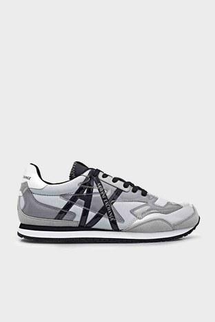 Armani Exchange - Armani Exchange Marka Logolu Sneaker Bayan Ayakkabı XDX052 XV357 K525 BEYAZ-GRİ