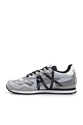 Armani Exchange Marka Logolu Sneaker Bayan Ayakkabı XDX052 XV357 K525 BEYAZ-GRİ