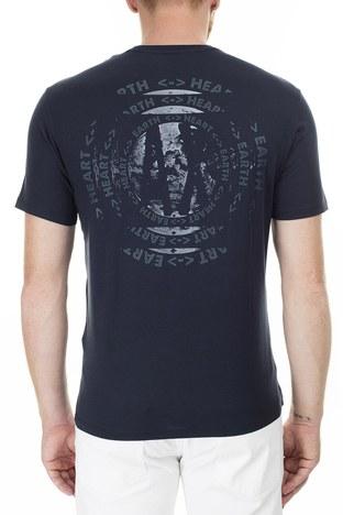 Armani Exchange - Armani Exchange Önü ve Arkası Baskılı Bisiklet Yaka Erkek T Shirt 3HZTAU ZJA5Z 1510 LACİVERT (1)