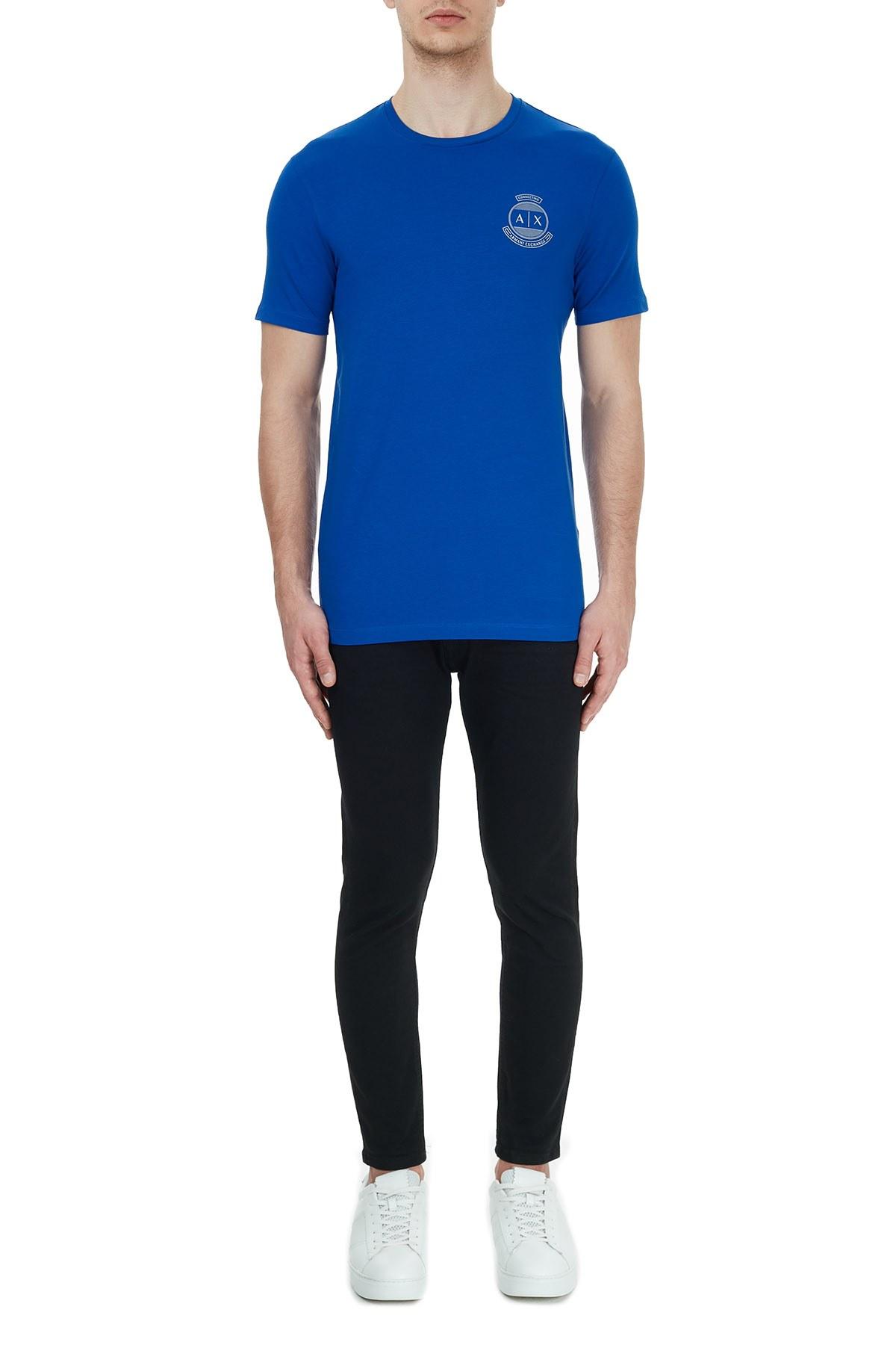 Armani Exchange Pamuklu Bisiklet Yaka Erkek T Shirt 6HZTFL ZJE6Z 1506 SAKS