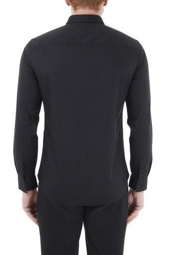 Armani Exchange Pamuklu Regular Fit Erkek Gömlek 6HZC38 ZN28Z 1200 SİYAH