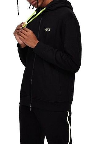 Armani Exchange - Armani Exchange Pamuklu Regular Fit Kapüşonlu Erkek Sweat 3KZMFJ ZJ6HZ 1200 SİYAH (1)
