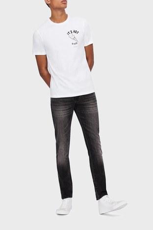 Armani Exchange - Armani Exchange Pamuklu Skinny Fit J14 Jeans Erkek Kot Pantolon 6HZJ14 Z2KQZ 0903 GRİ