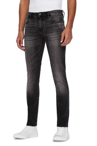 Armani Exchange - Armani Exchange Pamuklu Skinny Fit J14 Jeans Erkek Kot Pantolon 6HZJ14 Z2KQZ 0903 GRİ (1)