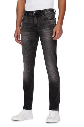 Armani Exchange Pamuklu Skinny Fit J14 Jeans Erkek Kot Pantolon 6HZJ14 Z2KQZ 0903 GRİ