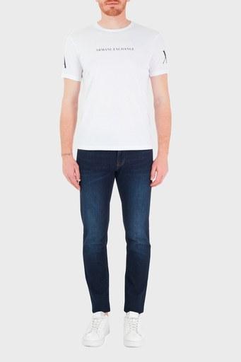 Armani Exchange Pamuklu Skinny Fit J14 Jeans Erkek Kot Pantolon 8NZJ14 Z2DXZ 1500 LACİVERT