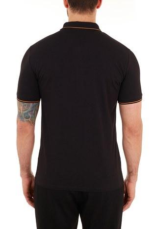 Armani Exchange - Armani Exchange Pamuklu Slim Fit T Shirt Erkek Polo 8NZF71 ZJH2Z 2268 SİYAH (1)