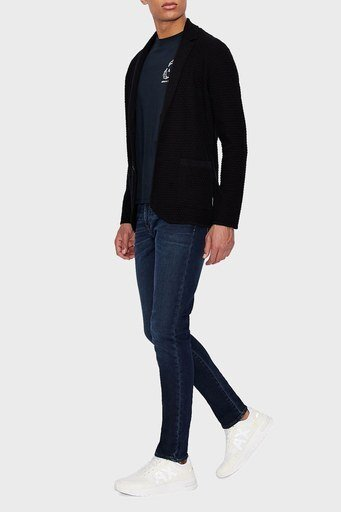 Armani Exchange Pamuklu Super Skinny J33 Jeans Erkek Kot Pantolon 3KZJ33 ZAQMZ 1500 LACİVERT